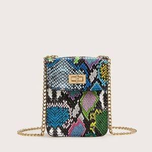 Mini snakeskin purse